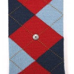 Burlington Kniekousen | Rood Argyle patroon