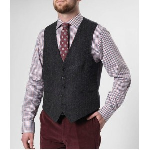 Gilette Harris Tweed Wellington | Antraciet Visgraat