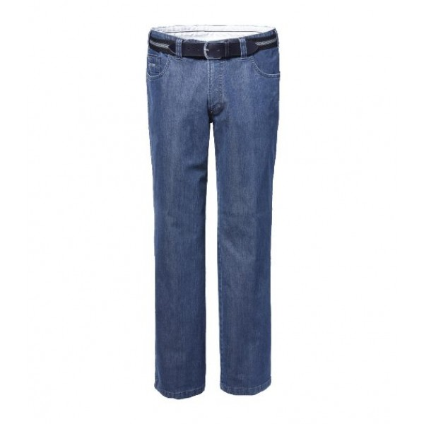 Luigi Morini 5 Pocket Stretch Jeans | Licht denim