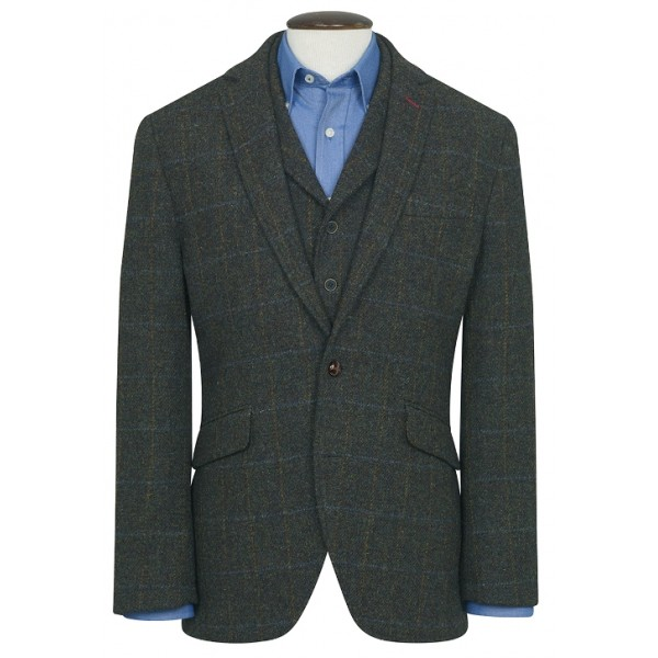 Colbert Harris Tweed | Groen Geblokt