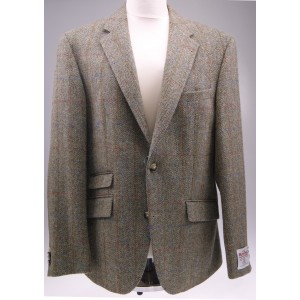 Colbert Harris Tweed Wellington | Olijf Visgraat